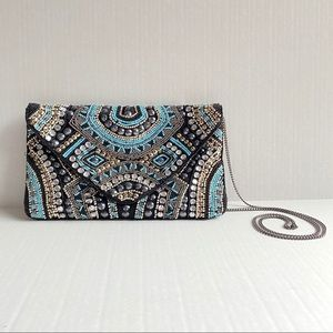 Vintage Handcrafted beaded Crossbody bag & Clutch